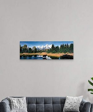 Moose Beaver Pond Grand Teton National Park WY Canvas Wall Art Print 60x20x125 0 2 300x360