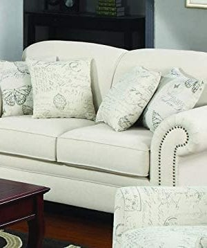 Norah Loveseat With Antique Inspired Detail Oatmeal 0 0 300x358