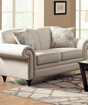 Norah Loveseat With Antique Inspired Detail Oatmeal 0 1 300x360