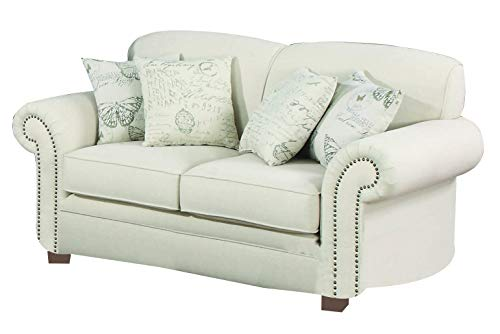 Norah Loveseat With Antique Inspired Detail Oatmeal 0