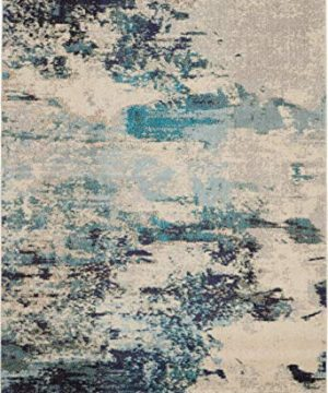 Nourison Celestial 6x9 Area Rug Ivory Teal Blue 0 1 300x360
