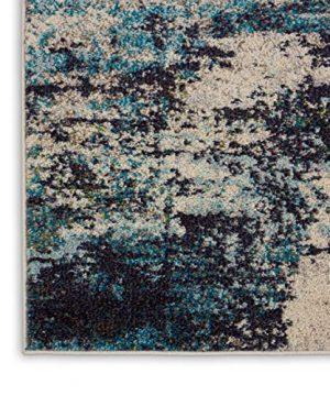 Nourison Celestial 6x9 Area Rug Ivory Teal Blue 0 2 300x360