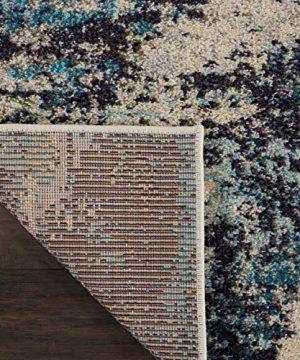 Nourison Celestial 6x9 Area Rug Ivory Teal Blue 0 3 300x360