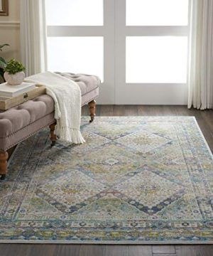 Nourison Global Vintage Blue And Green Farmhouse Area Rug 4 X 6 0 300x360