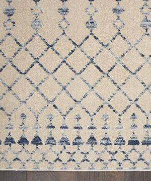 Nourison Royal Moroccan Distressed Bohemian Beige Blue 4 X 6 Area Rug 4x6 BGEBL 0 3 300x360