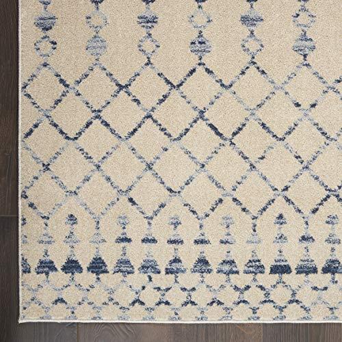 Nourison Royal Moroccan Distressed Bohemian Beige Blue 4 X 6 Area Rug 4x6 BGEBL 0 3