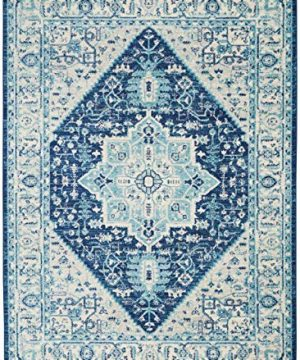 Nourison TRA06 Tranquil Persian Vintage IvoryNavy Area Rug 6 X 9 0 1 300x360