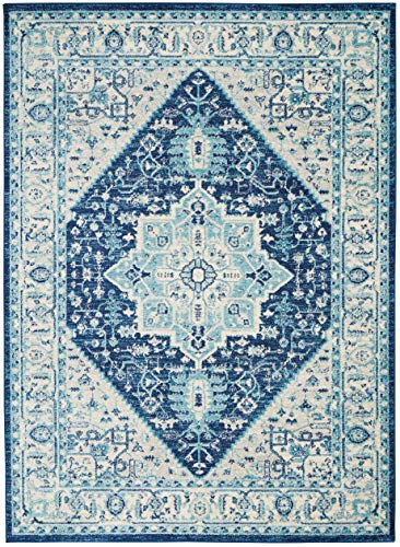 Nourison TRA06 Tranquil Persian Vintage IvoryNavy Area Rug 6 X 9 0 1