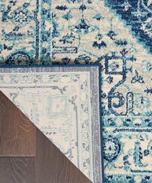 Nourison TRA06 Tranquil Persian Vintage IvoryNavy Area Rug 6 X 9 0 2 300x360