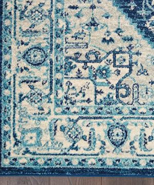 Nourison TRA06 Tranquil Persian Vintage IvoryNavy Area Rug 6 X 9 0 3 300x360