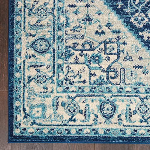 Nourison TRA06 Tranquil Persian Vintage IvoryNavy Area Rug 6 X 9 0 3