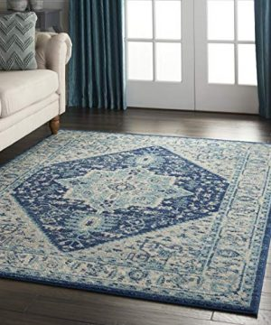 Nourison TRA06 Tranquil Persian Vintage IvoryNavy Area Rug 6 X 9 0 4 300x360