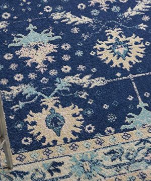 Nourison TRA10 Tranquil Oriental Traditional NavyIvory Area Rug 6 X 9 0 0 300x360