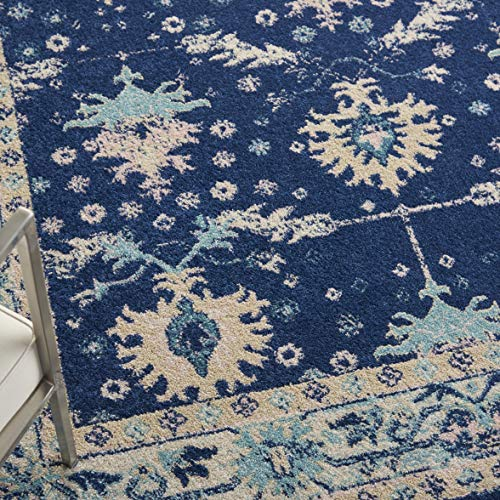 Nourison TRA10 Tranquil Oriental Traditional NavyIvory Area Rug 6 X 9 0 0