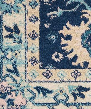 Nourison TRA10 Tranquil Oriental Traditional NavyIvory Area Rug 6 X 9 0 1 300x360