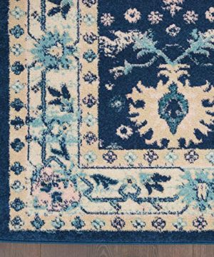 Nourison TRA10 Tranquil Oriental Traditional NavyIvory Area Rug 6 X 9 0 3 300x360