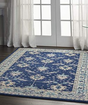 Nourison TRA10 Tranquil Oriental Traditional NavyIvory Area Rug 6 X 9 0 4 300x360