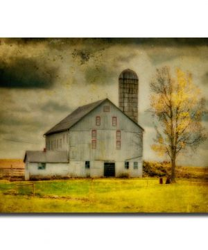 Old Barn On Stormy Afternoon By Lois Bryan 30x47 Inch Canvas Wall Art 0 300x360