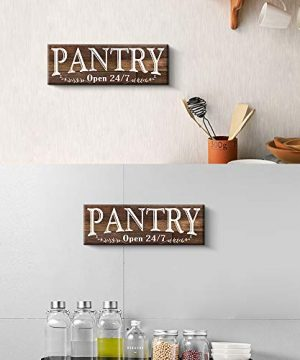 Pantry Sign Rustic Wood Color Canvas Wall Art Print Sign 6x17 Pantry Brown 0 1 300x360