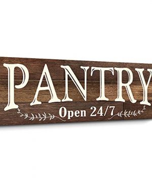 Pantry Sign Rustic Wood Color Canvas Wall Art Print Sign 6x17 Pantry Brown 0 300x360
