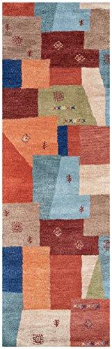 Rizzy Home Mojave Collection Wool Area Rug 5 X 8 MultiOrangeBurgundyTanBeigeGreen 0 2