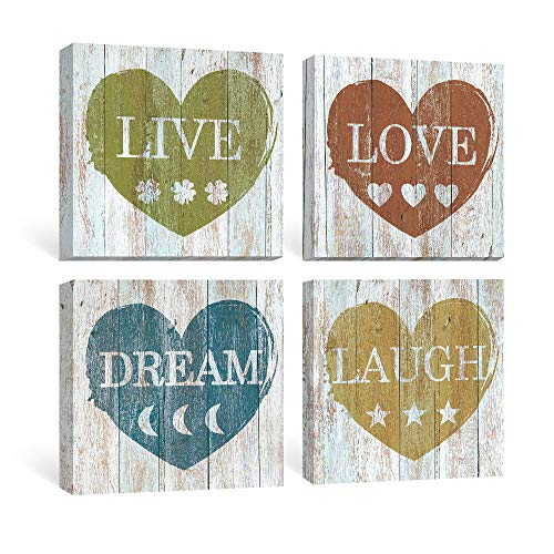 SUMGAR-Rustic-Wall-Art-Bedroom-Inspirational-Quotes-Pictures-Bathroom-Farmhouse-Decor-Motivational-Blue-Canvas-Paintings-Dorm-Grey-Yellow-Prints-Gray-Red-Artwork-Set-of-4-Home-Gifts12x12-inch-0