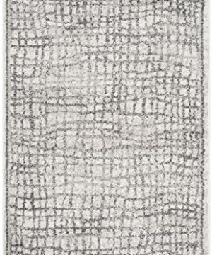 Safavieh Adirondack Collection ADR103B Silver And Ivory Modern Distressed Area Rug 3 X 5 0 0 300x360