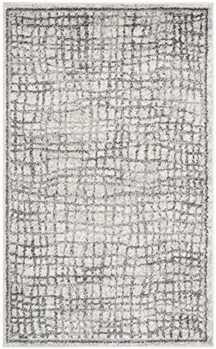Safavieh Adirondack Collection ADR103B Silver And Ivory Modern Distressed Area Rug 3 X 5 0 0