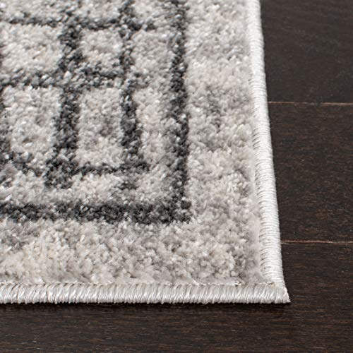 Safavieh Adirondack Collection ADR103B Silver And Ivory Modern Distressed Area Rug 3 X 5 0 1