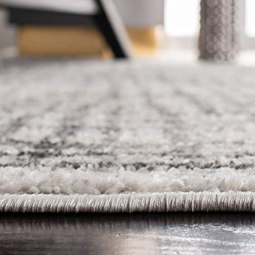 Safavieh Adirondack Collection ADR103B Silver And Ivory Modern Distressed Area Rug 3 X 5 0 2