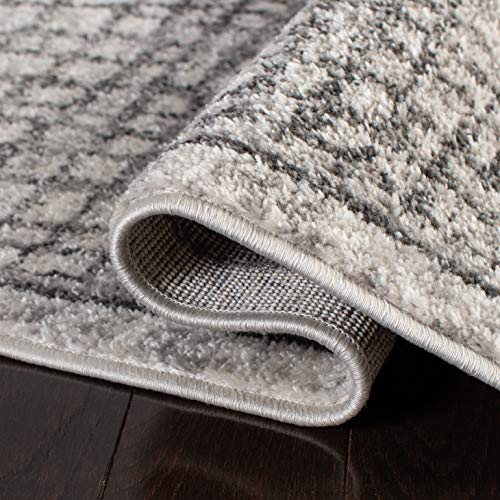 Safavieh Adirondack Collection ADR103B Silver And Ivory Modern Distressed Area Rug 3 X 5 0 3