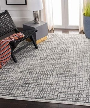 Safavieh Adirondack Collection ADR103B Silver And Ivory Modern Distressed Area Rug 3 X 5 0 300x360