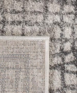Safavieh Adirondack Collection ADR103B Silver And Ivory Modern Distressed Area Rug 3 X 5 0 4 300x360