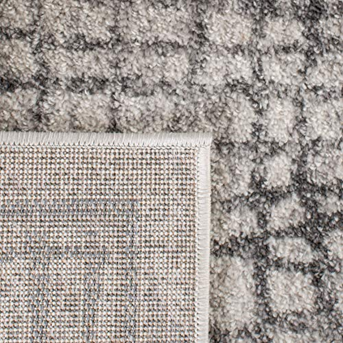 Safavieh Adirondack Collection ADR103B Silver And Ivory Modern Distressed Area Rug 3 X 5 0 4
