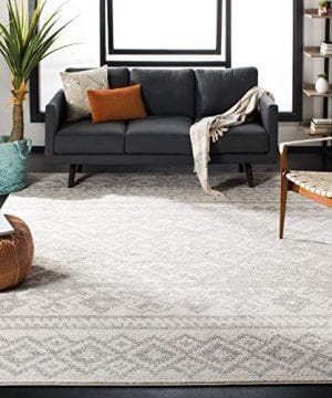 Safavieh Adirondack Collection ADR107B Ivory And Silver Rustic Bohemian Area Rug 3 X 5 0 300x360