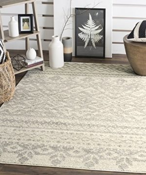 Safavieh Adirondack Collection ADR107B Ivory And Silver Rustic Bohemian Area Rug 4 X 6 0 300x360