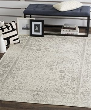 Safavieh Adirondack Collection ADR109C IvorySilver Vintage Oriental Distressed Area Rug 3 X 5 0 300x360
