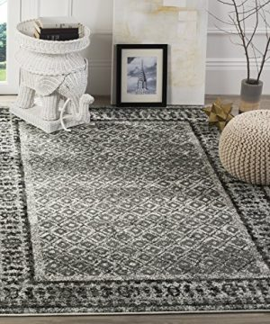 Safavieh Adirondack Collection ADR110B Ivory And Silver Vintage Distressed Area Rug 6 X 9 0 300x360
