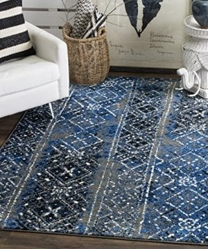 Safavieh Adirondack Collection ADR111G Silver And Multi Contemporary Bohemian Distressed Area Rug 3 X 5 0 300x360