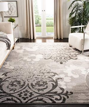 Safavieh Adirondack Collection ADR114B Silver And Ivory Contemporary Chic Damask Area Rug 6 X 9 0 300x360