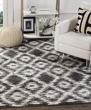 Safavieh Adirondack Collection ADR118R Charcoal And Ivory Modern Geometric Area Rug 6 X 9 0 0 300x360