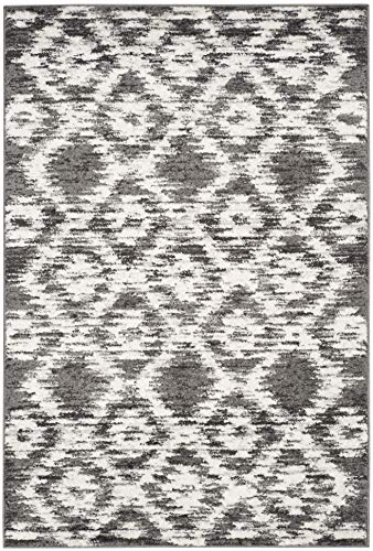 Safavieh Adirondack Collection ADR118R Charcoal And Ivory Modern Geometric Area Rug 6 X 9 0 1