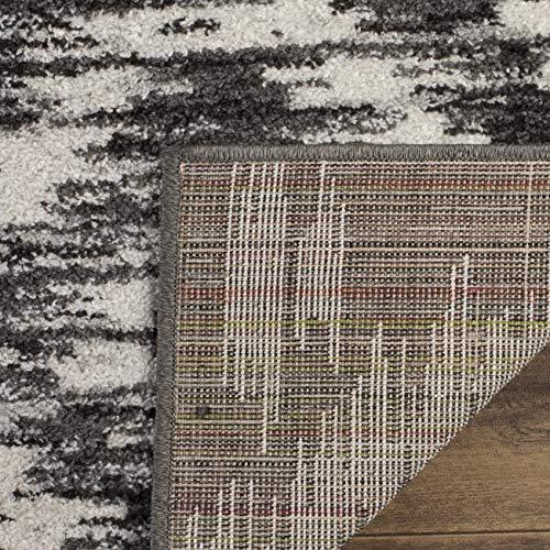 Safavieh Adirondack Collection ADR118R Charcoal And Ivory Modern Geometric Area Rug 6 X 9 0 2