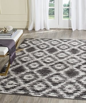 Safavieh Adirondack Collection ADR118R Charcoal And Ivory Modern Geometric Area Rug 6 X 9 0 300x360