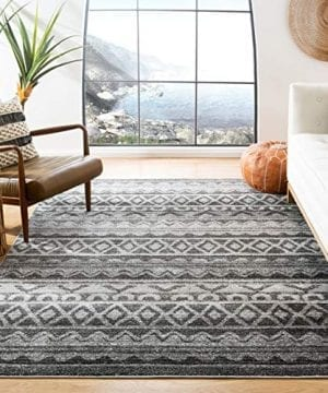 Safavieh Adirondack Collection ADR119N Modern Bohemian Area Rug 4 X 6 IvoryCharcoal 0 300x360