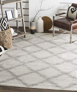 Safavieh Adirondack Collection ADR122B Ivory And Silver Modern Trellis Area Rug 6 X 9 0 300x360