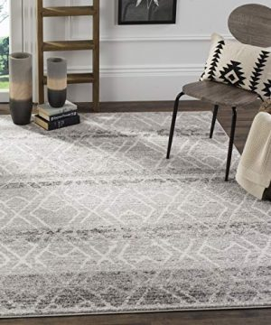 Safavieh Adirondack Collection ADR124B Silver And Ivory Vintage Geometric Area Rug 4 X 6 0 0 300x360