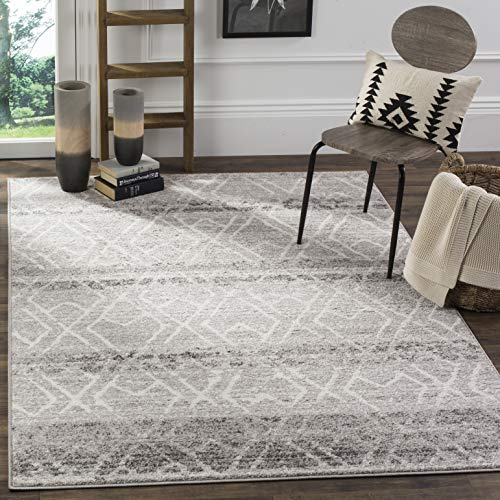 Safavieh Adirondack Collection ADR124B Silver And Ivory Vintage Geometric Area Rug 4 X 6 0 0