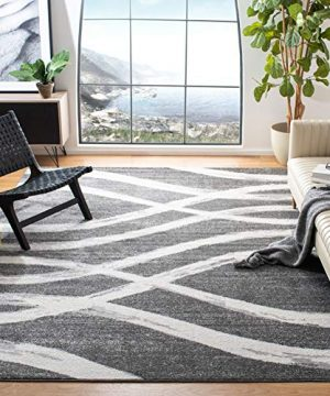 Safavieh Adirondack Collection ADR125R Charcoal And Ivory Modern Area Rug 6 X 9 0 300x360