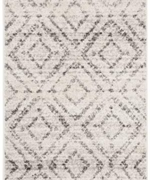 Safavieh Adirondack Collection ADR131C Modern Geometric Diamond Distressed Area Rug 4 X 6 Light GreyGrey 0 0 300x360